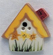 86132 - Sunflower Birdhouse 1in x 1in - 1 per pkg